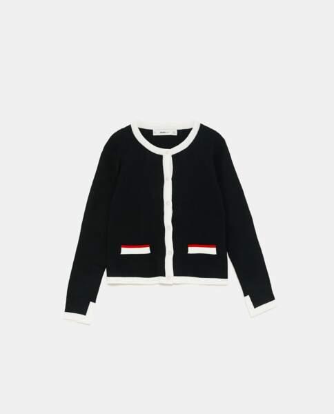 Vintage, veste forme iconique, 29,90 € (Zara).