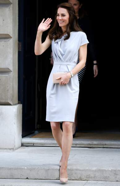 Kate Middleton sur les marches de la Spencer House à Londres, le 4 mai 2016