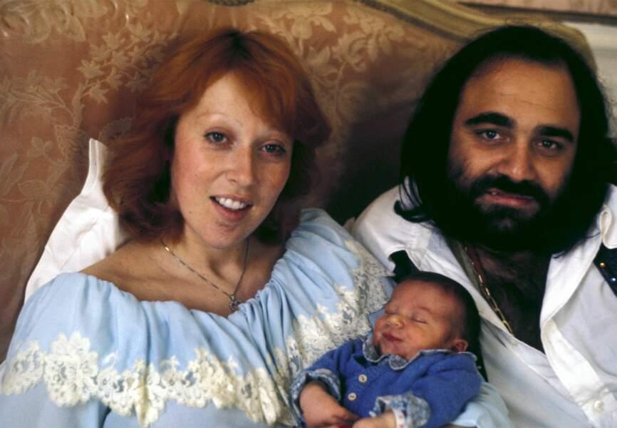 Demis, son épouse et leur fils Cyrille née en 1975
