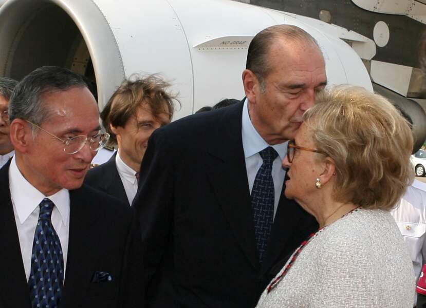 Le président Français Chirac en visite d'Etat au Royaume de Thaïlande, à Bangkok, en Thaïlande Le 17 février 2006.