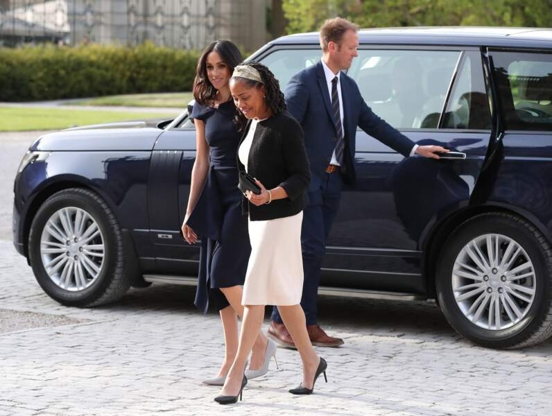 Meghan Markle et Doria Ragland qui vient d'arriver au Royaume-Uni