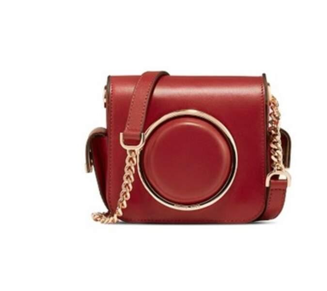 Camera bag en cuir 350 € (MICHAEL Michael Kors).