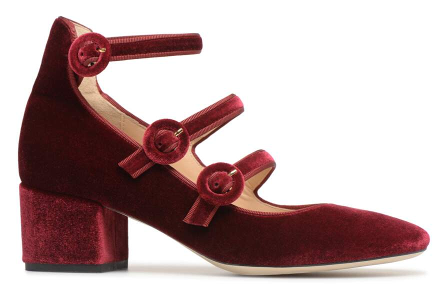 En cuir et velours, 129 €, Georgia Rose.
