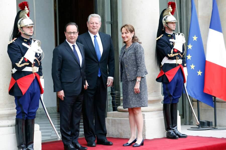 Réception d'Al Gore à l'Elysée le 18 mai 2015