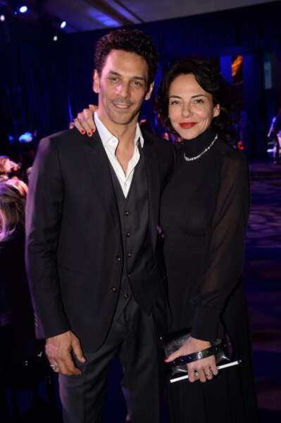 Sandra et Tomer Sisley très chic tout en noir