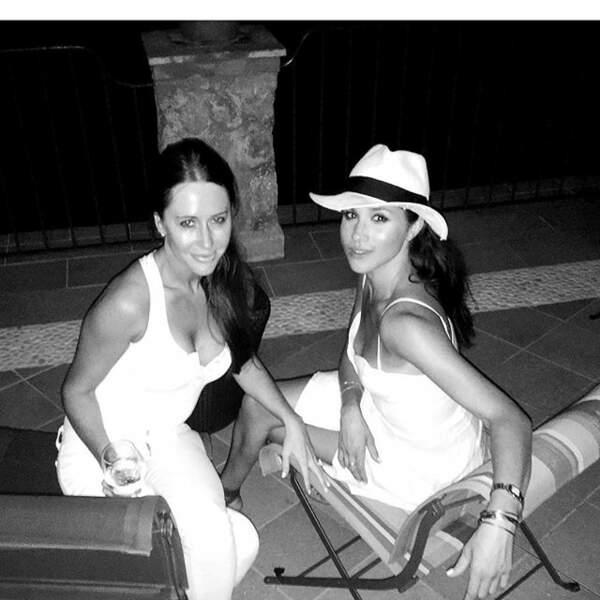 Jessica Mulroney et Meghan Markle en vacances à Capri, en Italie, en août 2016