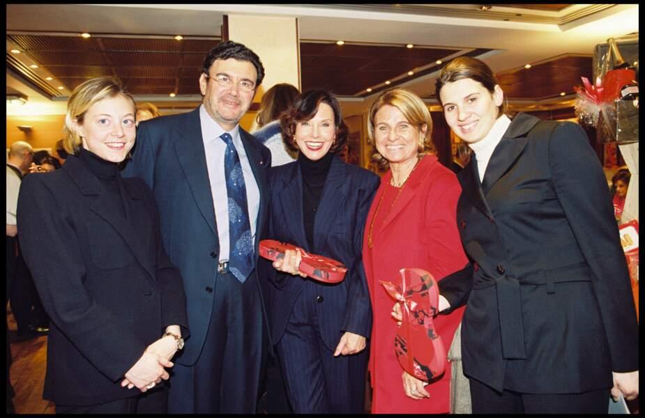 Alexandra Pastor, son père Michel Pastor, sa soeur Catherine Pastor et Denise Fabre