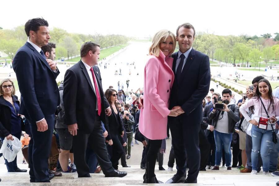 Brigitte et Emmanuel Macron en visite d'Etat aux Etats-Unis