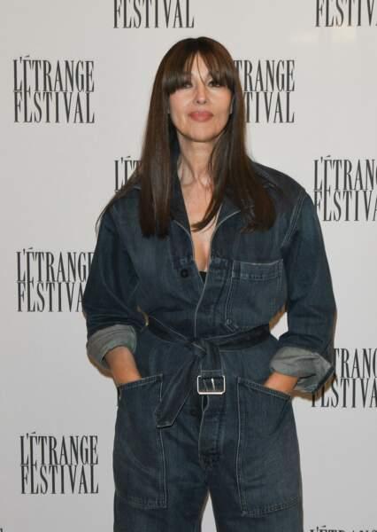 Monica Bellucci avait opté pour une mise en beauté épurée avec sa combinaison Dior.