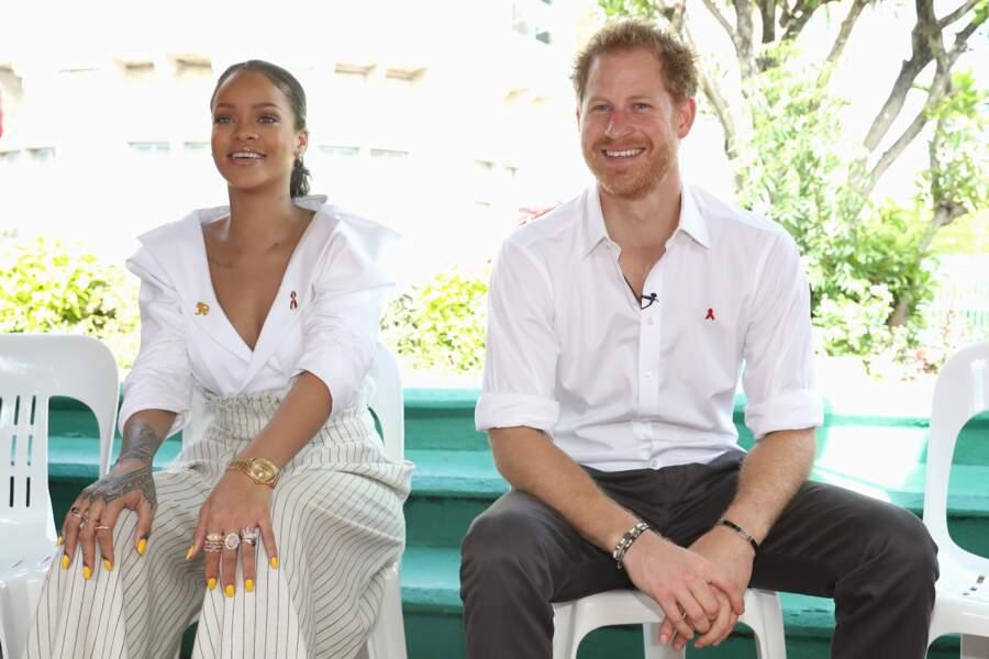 La chanteuse Rihanna et le prince Harry