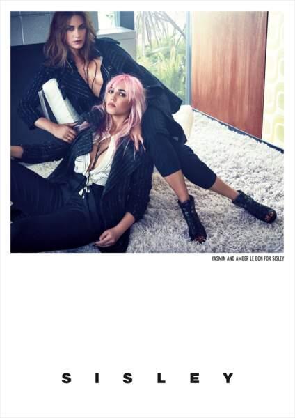 Yasmin Le Bon et Amber Le Bon pour Sisley