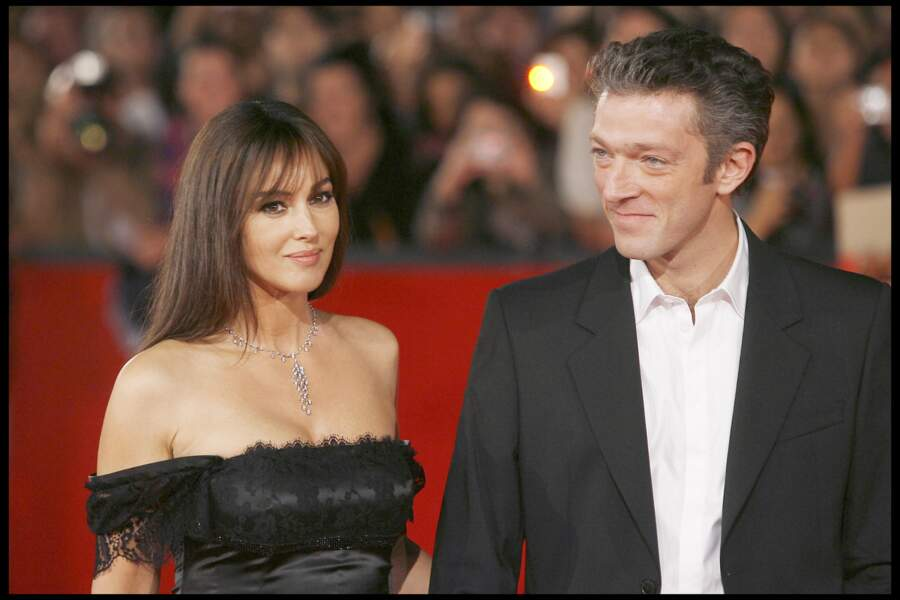 Monica Bellucci et Vincent Cassel en 2008 à Rome