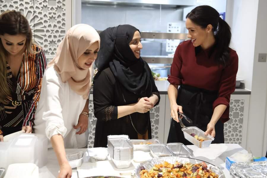 Meghan visite la Hubb Community Kitchen de Londres, novembre 2018