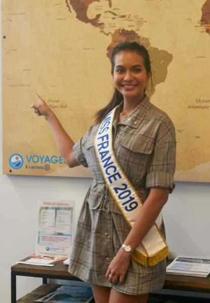 Vaimalama Chaves, Miss France 2019, s'est improvisée professeure des écoles à Trélissac