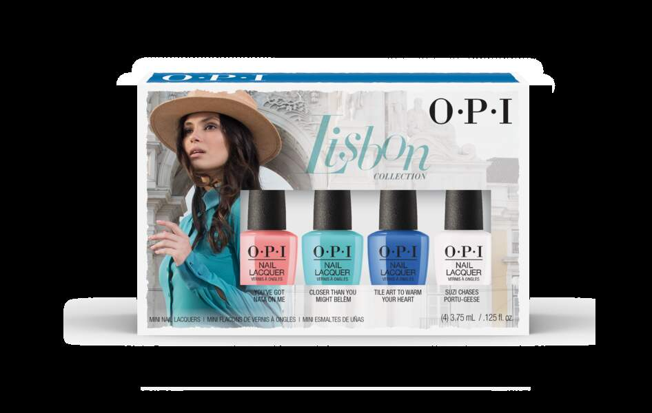 Kit de mini-vernis Collection Lisbon O.P.I, 20€