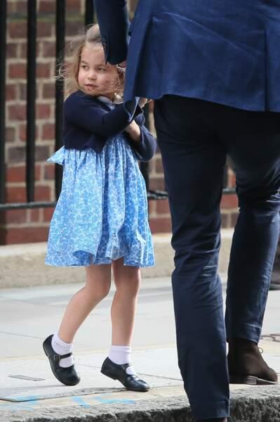 La princesse Charlotte a fait craquer les journalistes le 23 avril 2018.