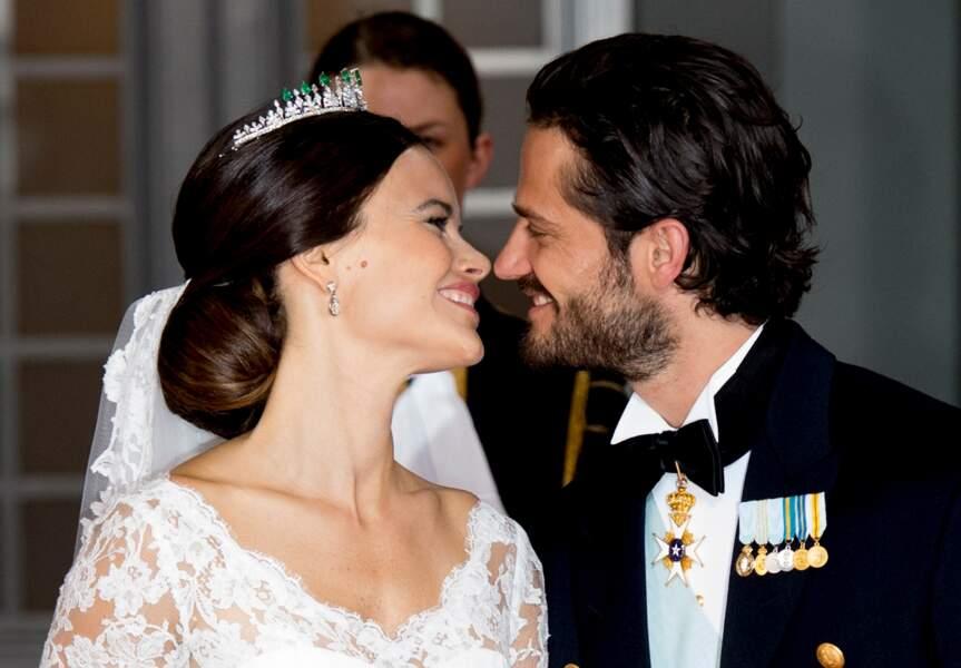 Le sublime chignon classique Sofia Hellqvist lors de son mariage avec Carl Philip de Suède