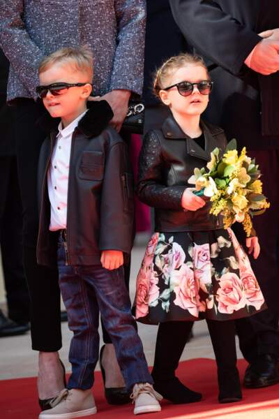 Jacques et Gabriella de Monaco ont séduit les photographes par leur bonne humeur, ce 22 février