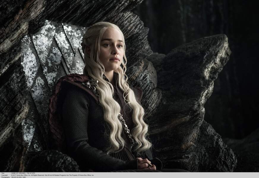 "Emilia Clarke, alias Daenerys Targaryen dans ""Game of Thrones"""