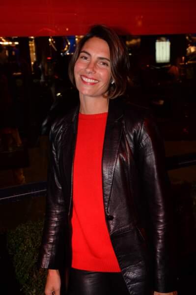 Alessandra Sublet était présente à la soirée d'inauguration de l'Hôtel Fouquet's Barrière