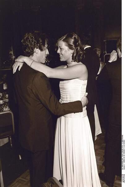Caroline de Monaco et Philippe Junot, en 1977 lors d'une soirée en faveur de l'UNICEF