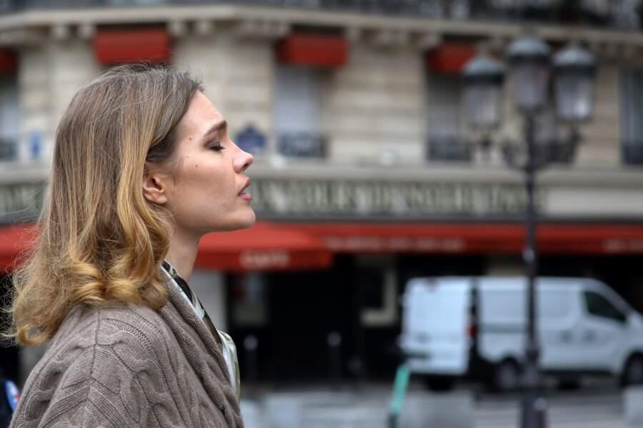 Natalia Vodianova semblait très touchée par l'incident qui s'est produit à Notre-Dame de Paris