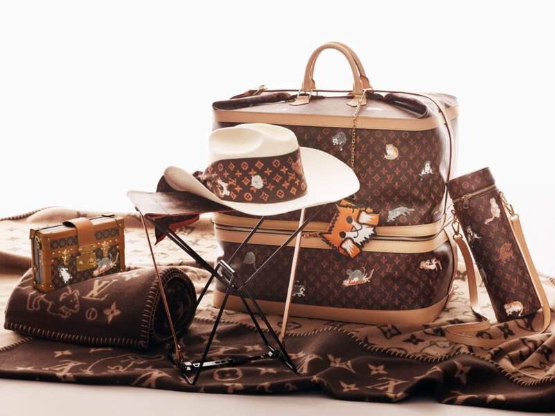"""Louis Vuitton collabore avec Grace Coddington """"comme chiens et chats"""", à partir de 325 € (à partir du 2 novembre)."""