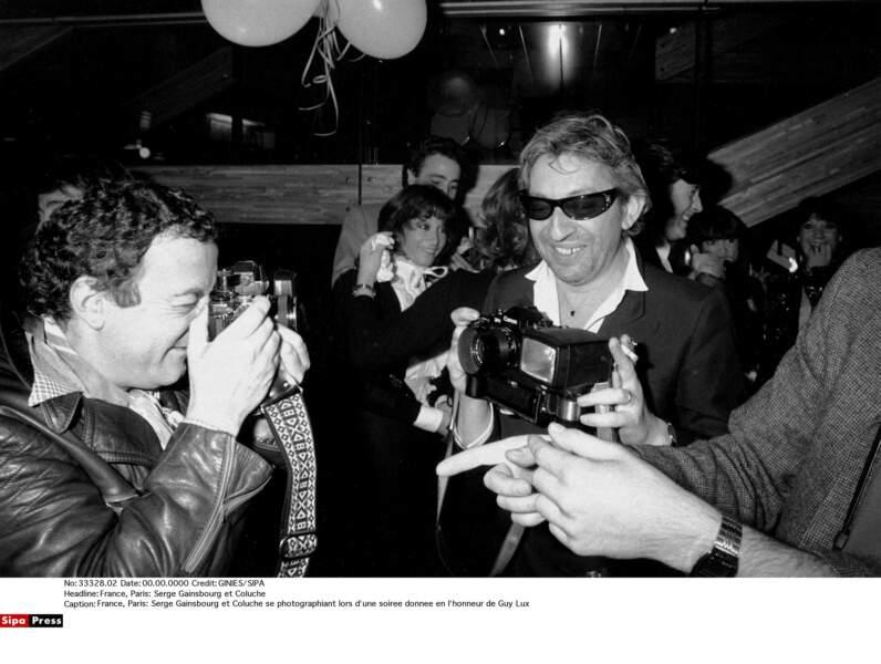Serge Gainsbourg et Coluche