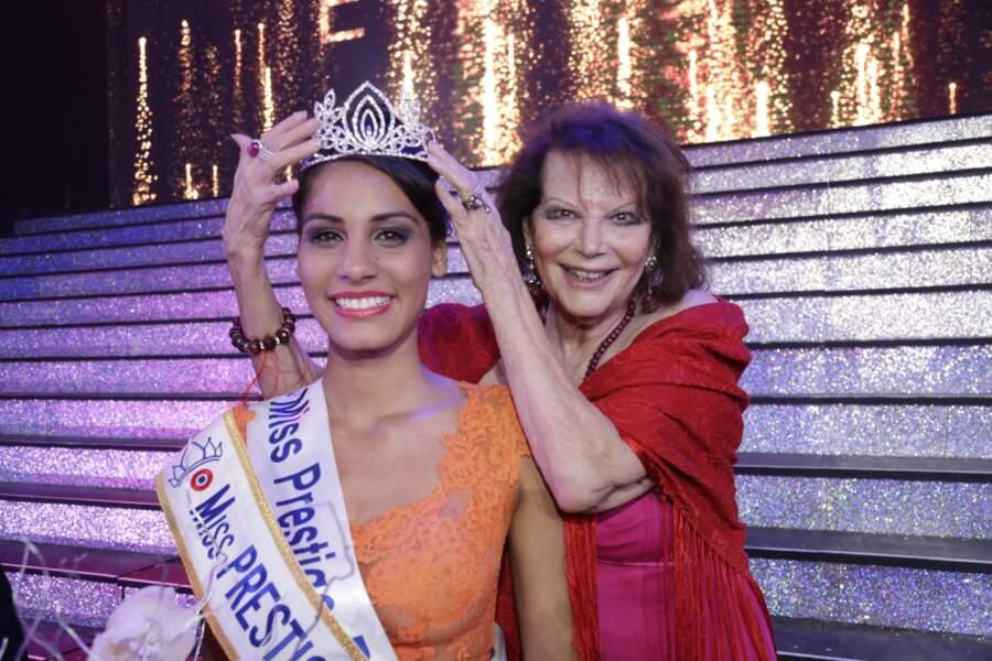 La Reunionnaise Cécile Bègue élue Miss Prestige National auprès de Claudia Cardinale