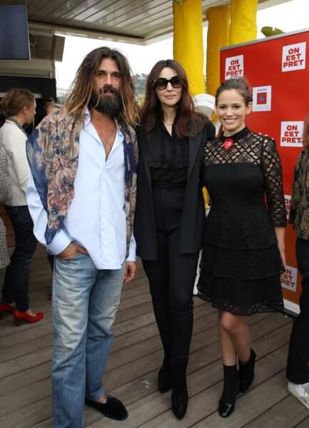 """Monica Bellucci et Nicolas Lefebvre ont soutenu le collectif """"On est prêt"""" ce vendredi 17 mai à Cannes"""