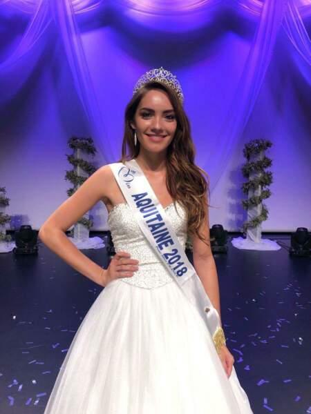 Carla Bonesso, 20 ans, a été sacrée Miss Aquitaine et tentera de devenir Miss France 2019