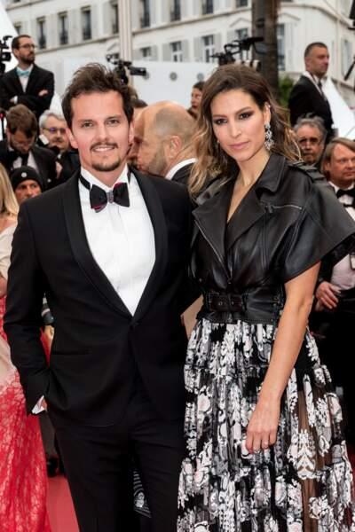 Laury Thilleman (Miss France 2011) et son compagnon le chef cuisinier Juan Arbelaez, à Cannes, le 17 mai 2019.