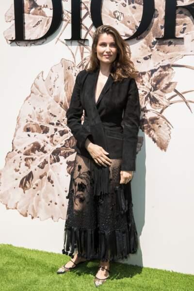 Laetitia Casta au défilé Dior Couture le 3 juillet 2017
