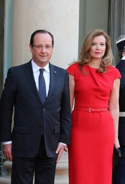 Francois Hollande et Valerie Trierweiler à Paris le 7 mai 2013