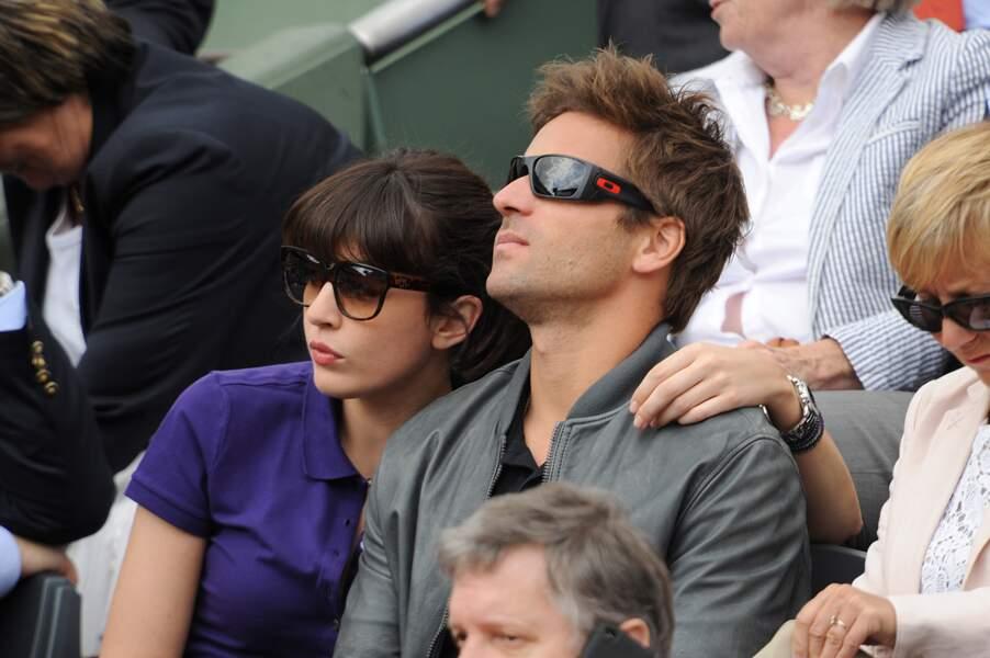 Nolwenn Leroy et Arnaud Clément à Roland Garros en 2012