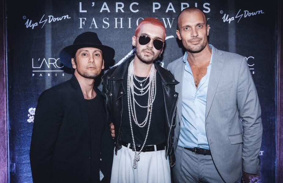 Bill Kaulitz et Loïc Berardengo (directeur artistique de l'Arc Paris)