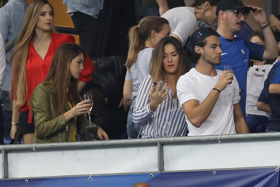 Iris Mittenaere et son partenaire de Danse avec les stars Anthony Colette stade de France le 16 octobre 2018