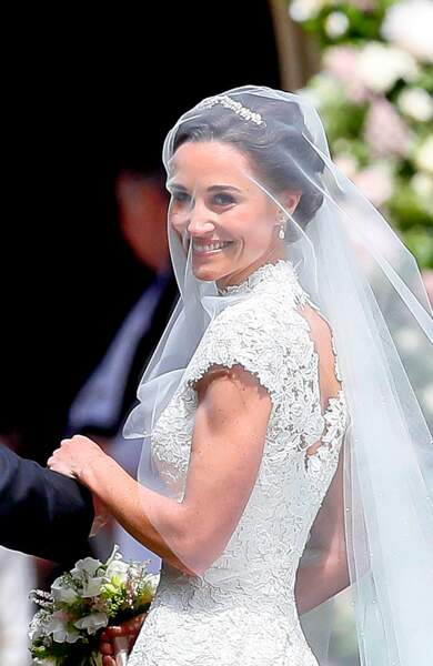 Pippa Middleton lors de son mariage avec James Matthews le 20 mai 2017