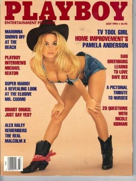 1992, le nom de Pamela Anderson apparaît pour la première fois sur la une
