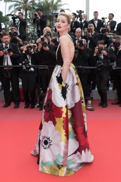 Amber Heard  Montée des marches du film « Plaire, aimer et courir vite » lors du 71ème Festival de Cannes