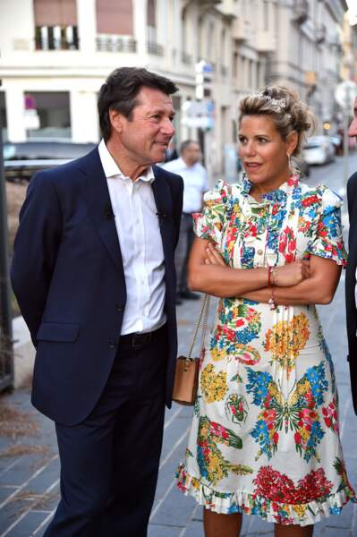 Christian Estrosi et Laura Tenoudji le 1er septembre 2017