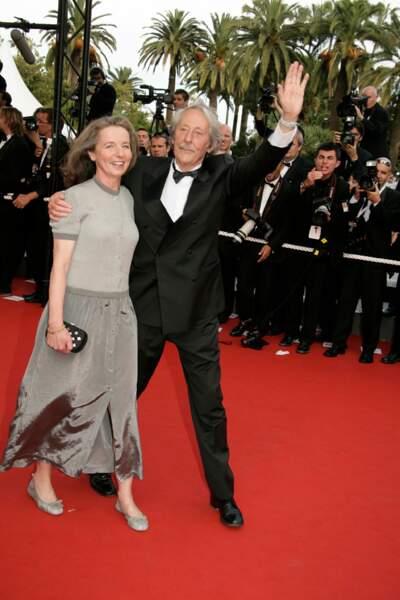 Jean Rochefort et sa deuxième épouse Françoise Vidal en 2006