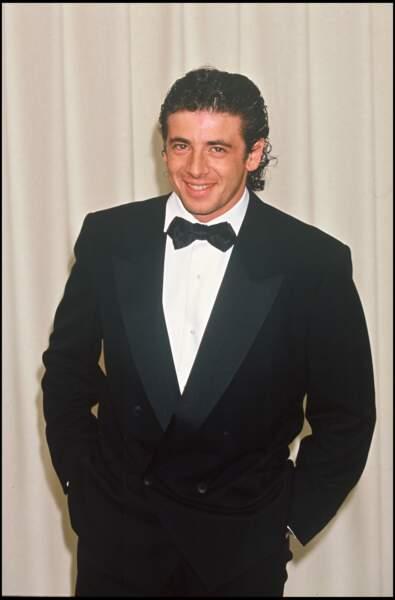 Patrick Bruel à la soirée des César en 1993
