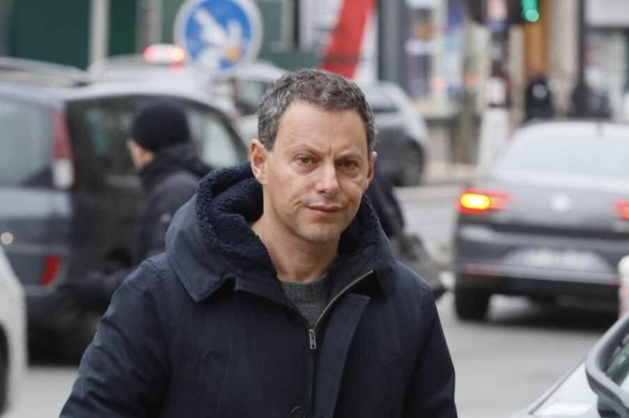 Marc-Olivier Fogiel assiste aux obsèques de Henry Chapier à Paris le 4 février 2019