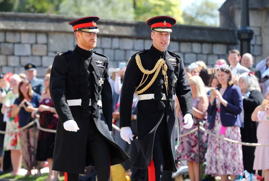 Les princes William et Harry avant le mariage