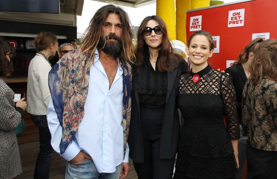 Monica Bellucci et Nicolas Lefebvre ont assisté, avec Lucie Lucas, à une conférence de presse animée par Cyril Dion