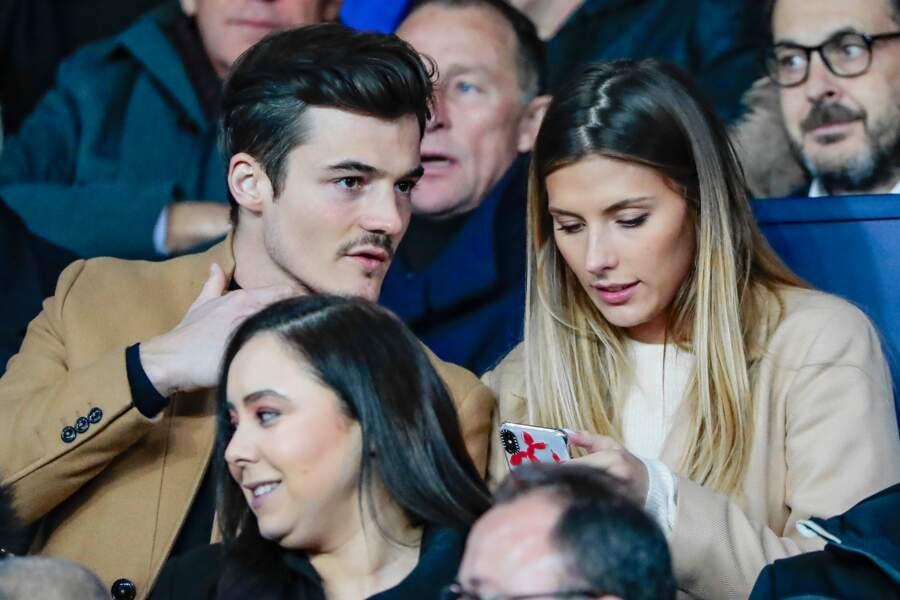 Camille Cerf et son chéri Cyrille ont assisté à un match opposant le PSG au FC Nantes