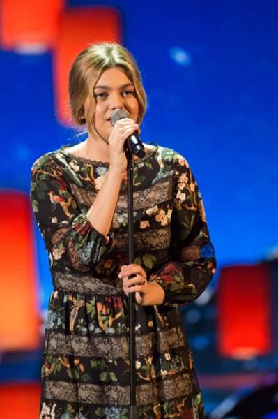 Louane Emera lors de la cérémonie des Victoires de la Musique le 9 février 2018