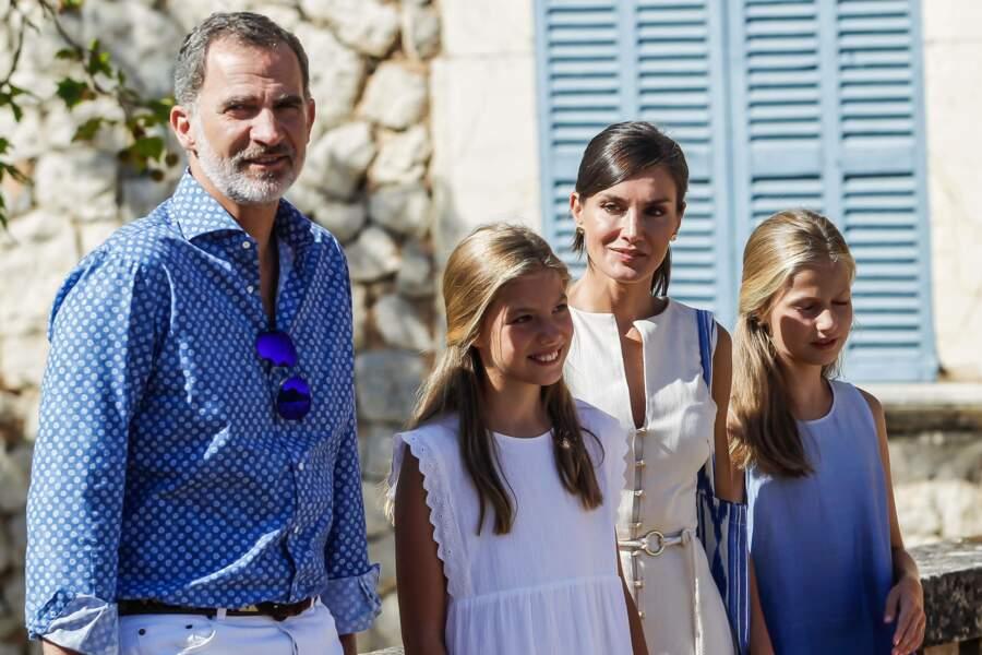 Le roi Felipe VI et son épouse Letizia étaient ravis de passer du temps avec leurs filles