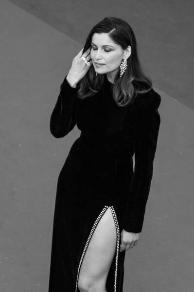"Laetitia Casta à la montée des marches du film ""How to Talk With Girls at Parties"" à Cannes en mai 2017"
